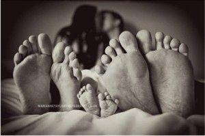 family photo of feet
