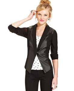material girl cavier black blazer