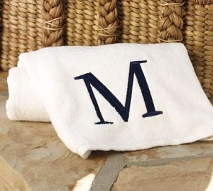 monogramed beach towel